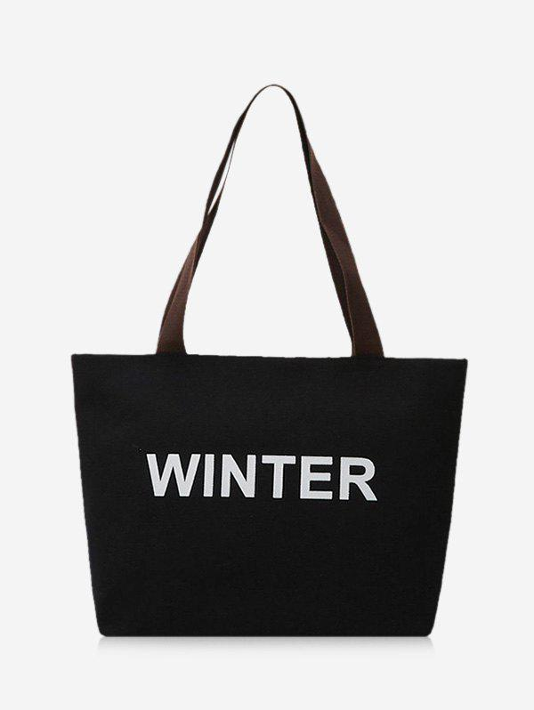 Affordable Winter Graphic Large Capacity Canvas Shoulder Bag