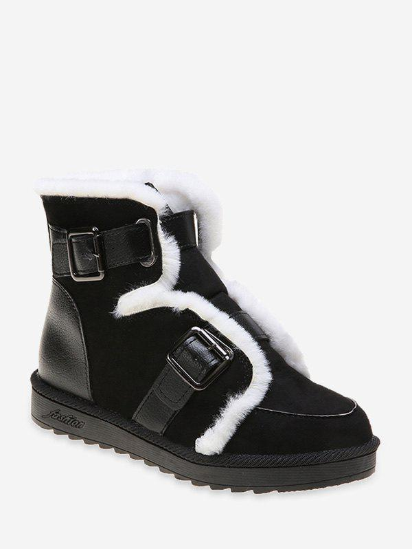 Shops Dual Buckle Ankle Snow Boots