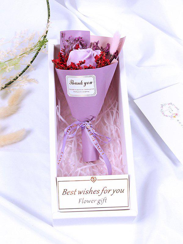 Online Valentine Day Gift Artificial Soap Rose Flowers Bouquet