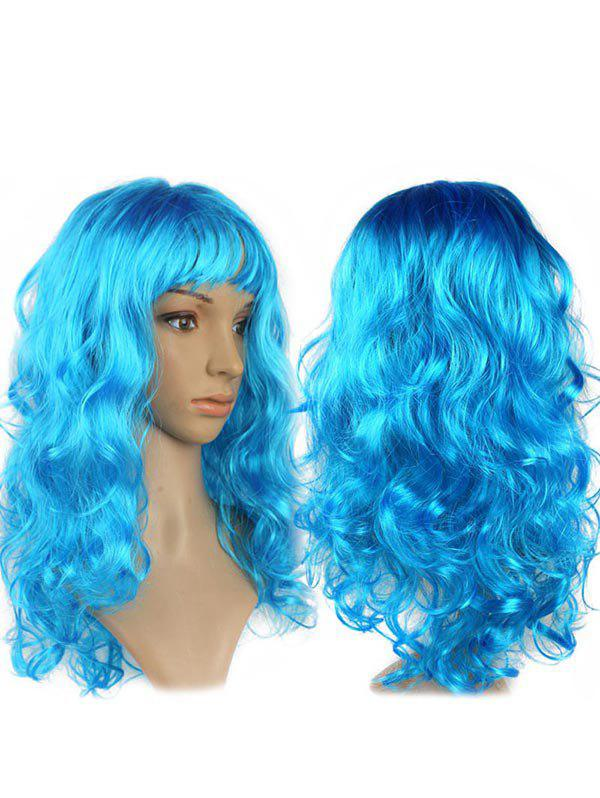 Shops Long Side Fringe Wavy Synthetic Cosplay Wig
