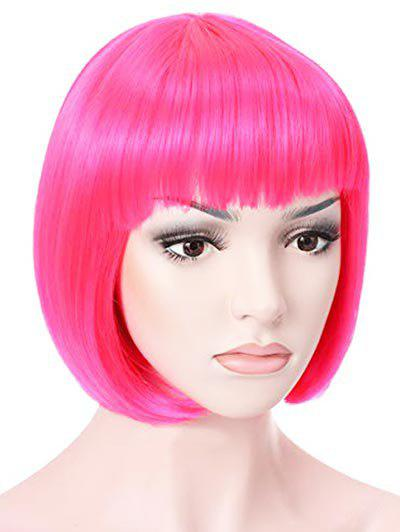 Online Synthetic Short Full Bang Straight Bob Cosplay Wig
