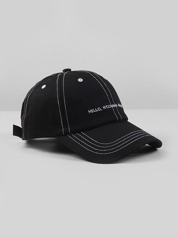 Latest Embroidered Letters Adjustable Baseball Cap