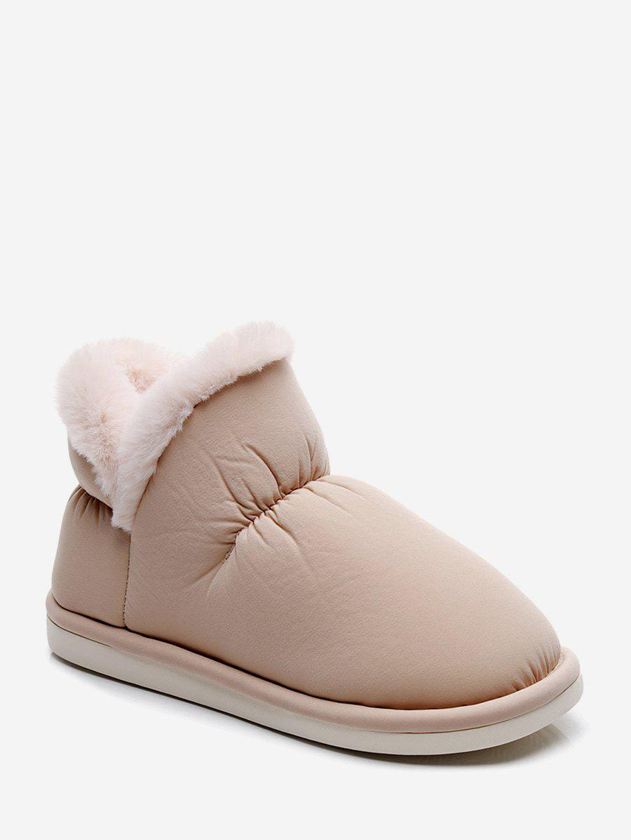 Buy Stitching Detail Faux Fur Trim Snow Boots