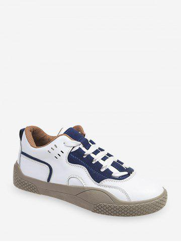 Lace-up Design Color Spliced Casual Shoes