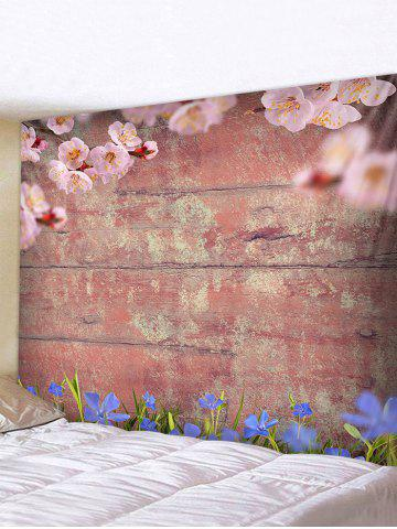 Decoration   Tapestry   Flower   Print   Hang   Wood   Wall   Art