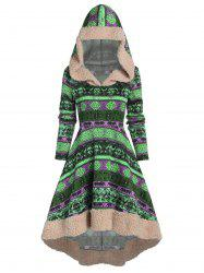 Winter Knitted A Line Hoodie Dress -