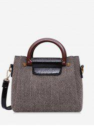 Striped Pattern Casual Simple Crossbody Bag -