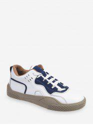 Lace-up Design Color Spliced Casual Shoes -