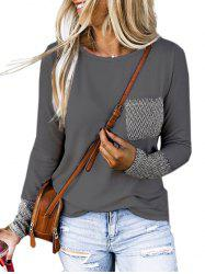 Pocket Geo Maille Pull - Gris 2XL
