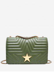 Star Quilted Chain Cover Crossbody Bag -