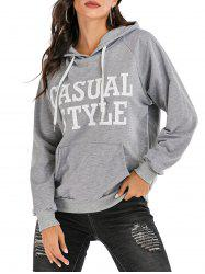 Casual Style Graphic Marled Hoodie -