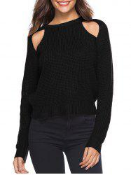 Cut Out Solid Casual Sweater -