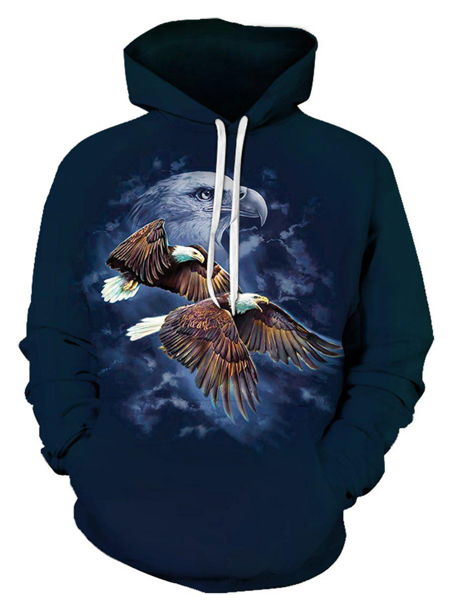Latest Eagle Pattern Pouch Pocket Hoodie