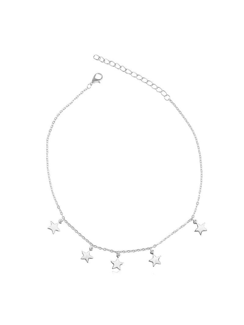 Outfit Star Pendant Metal Chain Choker Necklace