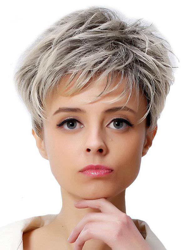 Fashion Short Colormix Straight Synthetic Wig