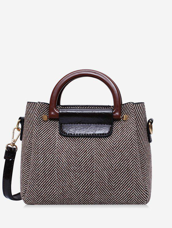 New Striped Pattern Casual Simple Crossbody Bag