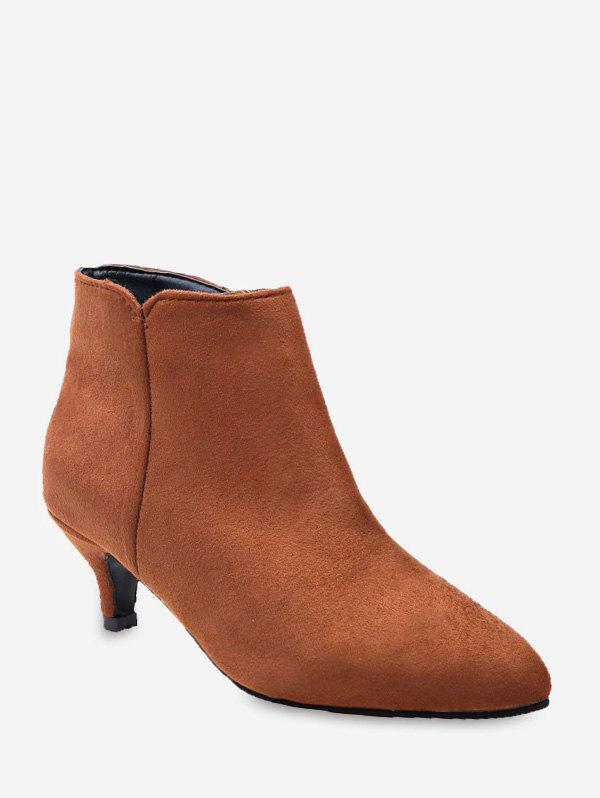 Fancy Stiletto Heel Suede Ankle Boots
