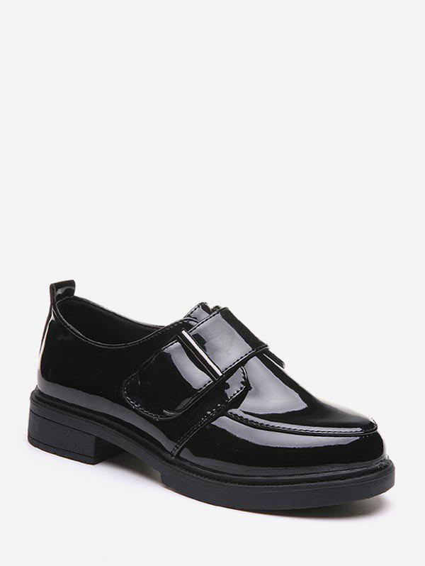 Latest Belted Leather Slip On Low Heel Shoes