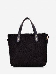 Furry Solid Big Single Shoulder Tote Bag -