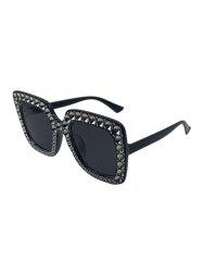 Oversized Rhinestone Square Sunglasses -