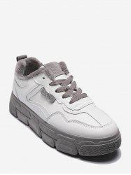 Casual PU Leather Fleece Skate Shoes -