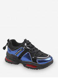Nice Graphic Color-blocking Dad Sneakers -