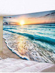 Sunset Sea Print Tapestry -