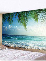 Coconut Tree Sea Print Tapestry -