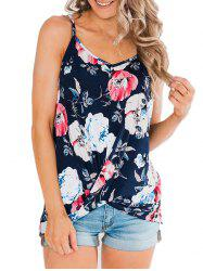 Twisted Hem Floral Cami Top -