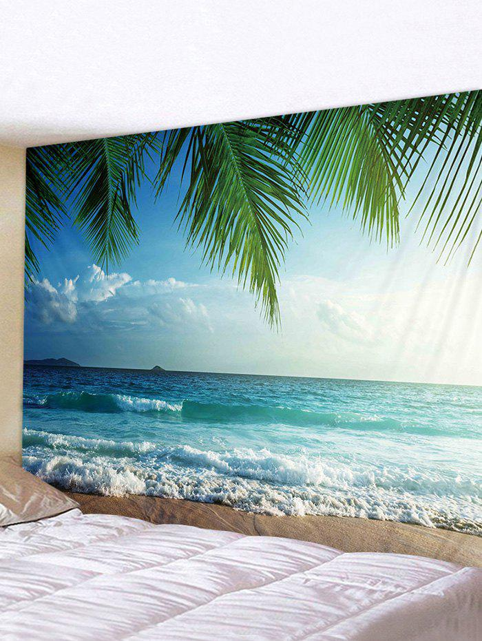 Discount Coconut Tree Sea Print Tapestry