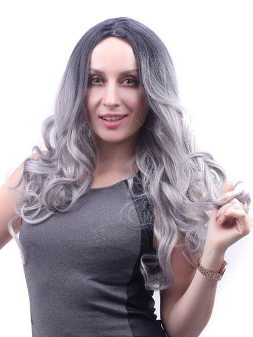 Shops Center Part Long Ombre Body Wave Synthetic Wig