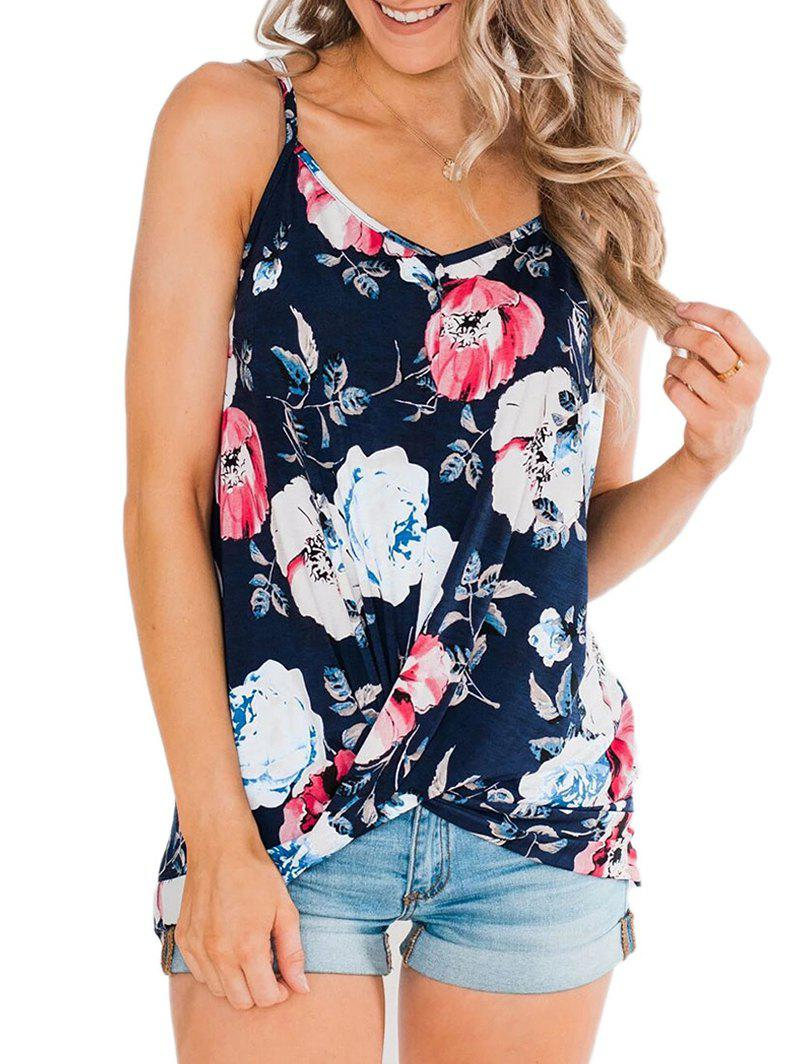 Store Twisted Hem Floral Cami Top