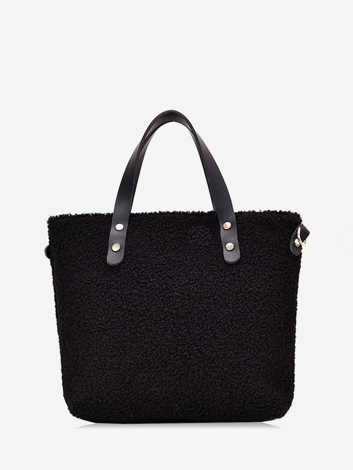 Trendy Furry Solid Big Single Shoulder Tote Bag
