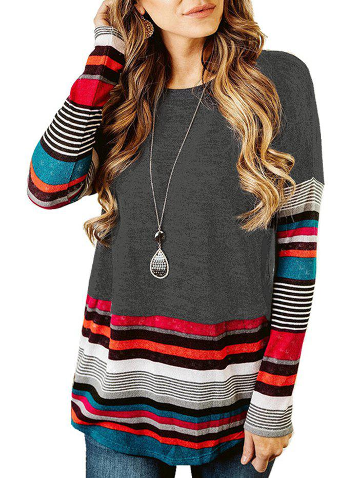 Shop Casual Striped Drop Shoulder T-shirt