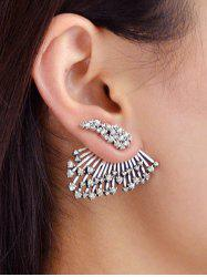 1PC Rhinestone Feather Ear Jacket -
