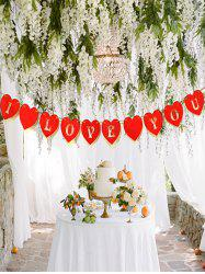 Valentines Day I LOV YOU Heart Pattern Party Banner -
