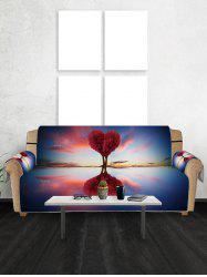 Valentines Day Heart Tree Patterned Couch Cover -