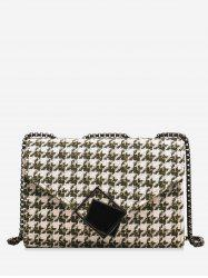 Plaid Chain Shoulder Bag -