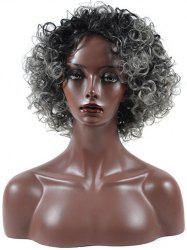 Afro Curl Synthetic Medium Fluffy Ombre Wig -