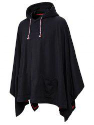 Front Pockets Gothic Cloak Hoodie -