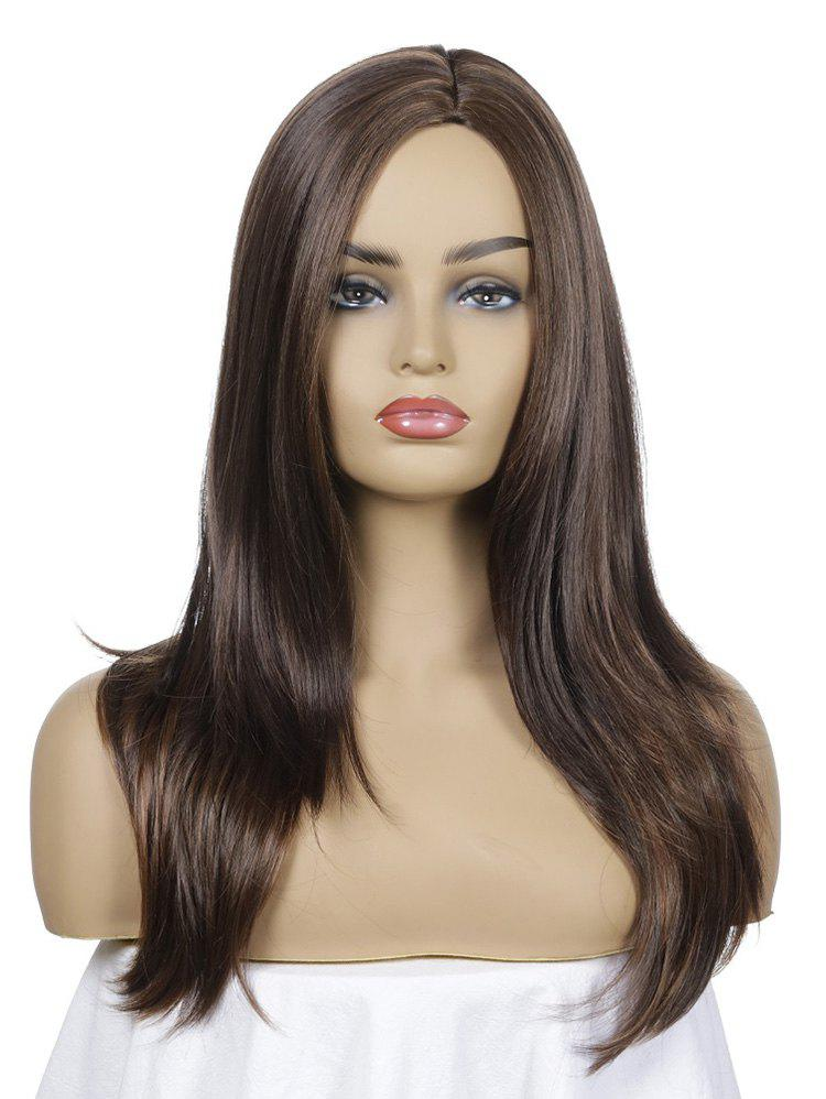 Chic Synthetic Long Side Part Straight Wig