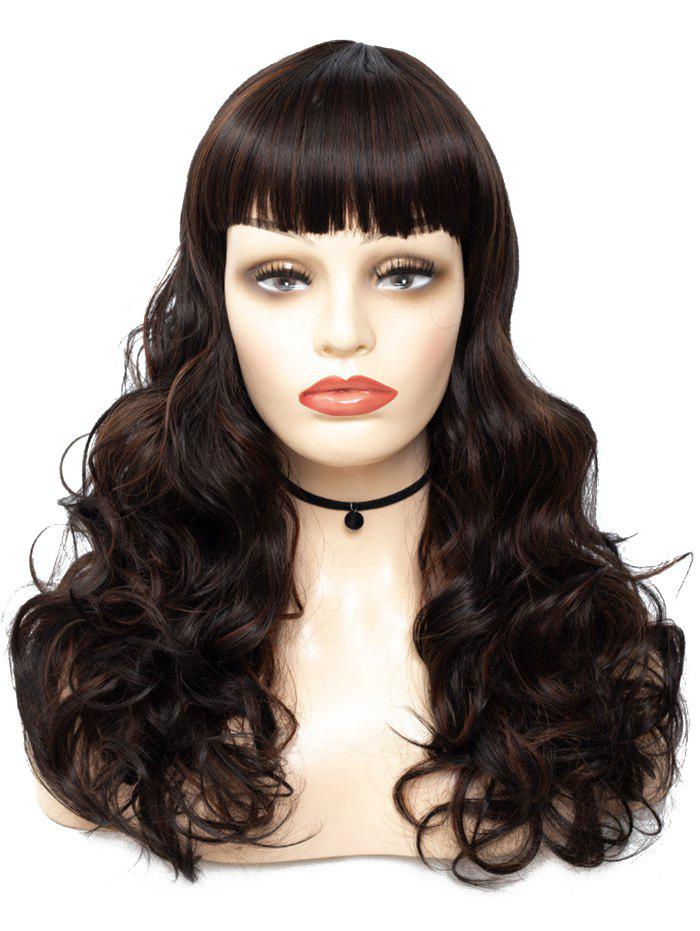 Trendy Full Bang Long Body Wave Synthetic Wig