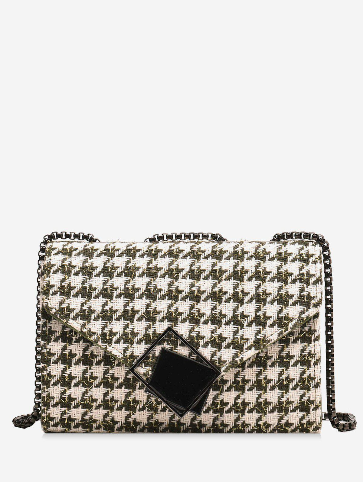 Buy Plaid Chain Shoulder Bag