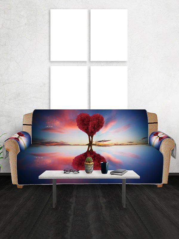 Hot Valentines Day Heart Tree Patterned Couch Cover