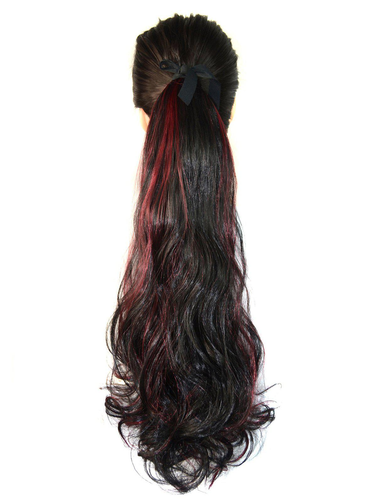Online Mixed Curly Long Synthetic Hair Piece