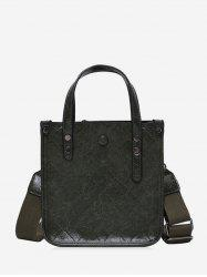 Rhombic Line Leather Solid Tote Bag -