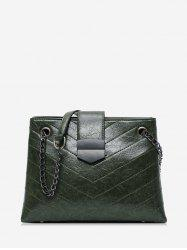 Quilted Chain Retro Shoulder Bag -