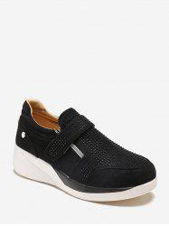Suede strass Slip On Chaussures -