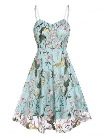 Flower Embroidery Lace Slip Layered Dress