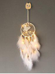 Faux Pearl Beaded Butterfly Feather Dream Catcher -